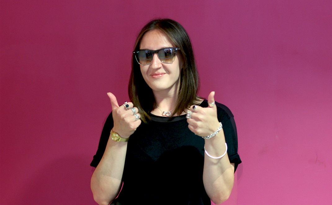 Sophie Postma, Marketing Manager, silly photo